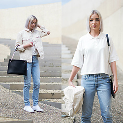 Nena F. - Topshop Jacket, Noisy May Polo Shirt, Levi's® Jeans, Converse Sneakers, Flippa K Bag - Me and my bags by Zalando