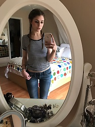 Kat - Target Striped Tee, Target Boyfriend Jeans - Keep it Simple