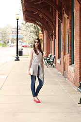 Tracie Marie - Zara Tie Top, H&M Slingbacks - Seeing Red this Spring