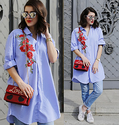 Samieze -  - Embroidered Shirtdress