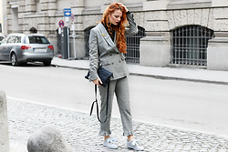 Katharina K. - H&M Suit, Puma Heart Sneaker, Liebeskind Berlin Clutch - Suited Up