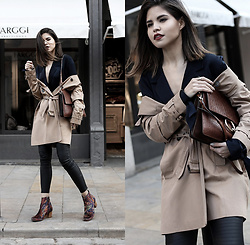 Adriana Gastélum - Hudson Booties, Forever 21 Trench Coat, Na Kd Silky Blazer, Chloé Faye Handbag, More Outfits On - A touch of Spring