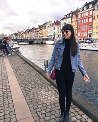 Danielle F - Primark Denim Jacket, Zara Jeans, Primark Sunglasses - Denim in Denmark
