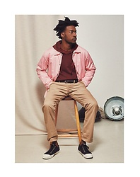 The Idle Man - The Idle Man Pink Coach Jacket, The Idle Man Paradise Hoodie, The Idle Man Straight Leg Chino - Layer Up
