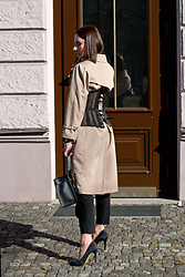 Anna Puzova - Zaful Corset, London Fog Trench, H&M Pants, Sammydress Bag, Aldo Heels - Corseted