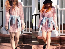 She is Magique Oh my Dior - Shein Pink Dress, Pull & Bear Jacket, Adolfo Dominguez Oxford, Zara Hat - Yo no asumo yo pregunto