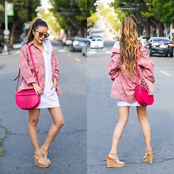 Sasa Zoe - Less Than $100 Pink Camo Jacket, Dress, On Sale Bag, Wedges, Sunglasses - THE PINK CAMO