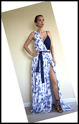 Monika Sanguinetti -  - Navy Floral Toile handmade by me