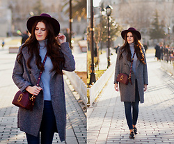 Viktoriya Sener - Zaful Coat, Zaful Sweater - IN GREY