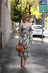 Ana Vukosavljevic - H&M Dress, Tiara Bag, Zaful Shoes, Accessoryo Sunglasses - Floral Dress