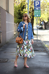 Ana Vukosavljevic - Missy Empire Jacket, H&M Dress, Zaful Shoes, Tiara Bag, Accessoryo Sunglasses - Floral Dress