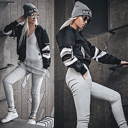 Oksana Orehhova - Elly Pistol Bomber, Elly Pistol Hat, Sixth June Body, Sixth June Pants, Zerouv Sunglasses - SPORTY REBEL