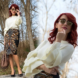 Redhead Illusion by Menia - Shein Blouse, Jimmy Choo Bag - Express...ing always in every way you can...!