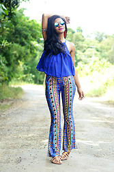 Siça Ramos - Zaful Pants, Sammydress Top, Romwe Sunglasses -  LOOK FLASHBACK