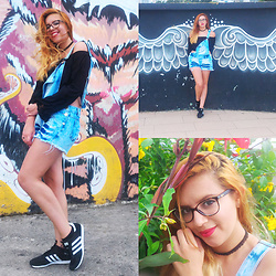 Juliana Duarte - Joss Outlet Black Top, Adidas Black Sneakers - I'll spread my wings and I'll learn how to fly