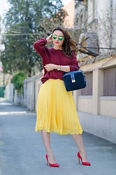Cristina Feather -  - Yellow pleats
