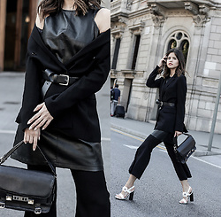 Adriana Gastélum - Shein Flared Trousers, Proenza Schouler Ps11 Bag, More Outfits On - Current Status