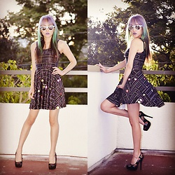 Genevieve Argueta - Iron Fist Clothing Sequin Heels - NerdGirl Meets LookBook