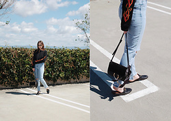 Taylor Smith - Urban Outfitters Top, Topshop Jeans, Chloé Chloe Faye Bag, Gucci Princetown Loafers - Denim, Loafers, and Flames