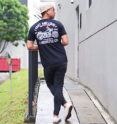 DADA FAB - Cotton On Cap, Zalora Singapore Black Shirt, Topman Skinny Jeans, Converse Sneakers - Fast and Loud