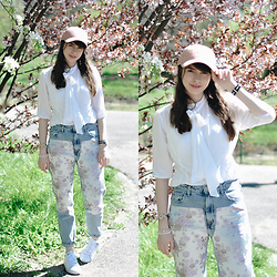 Ana B - H&M Hat, Bershka Jacquard Model Jeans, Adidas Stan Smith Shoes, Daniel Wellington Watch - Spring colors II