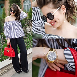 Diyora Beta - Bracelet, Michael Kors Watch, Bracelet, Earrings, Pants - MY COMFORTABLE OUTFIT