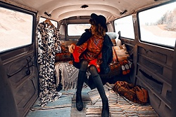 Mira Berglind - Lenni The Label Dress, Vagabond Shoes - In the backseat of my car
