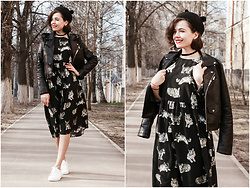 Katerina Lozovaya - Zaful Dress, Romwe Jacket, Asos Shoes - Cats