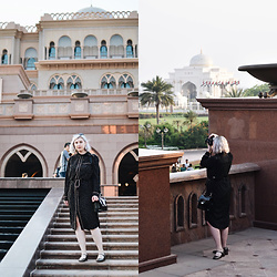 Elizabeth Claire - Whowhatwear For Target Pajama Dress, Clarks Gold Mary Janes, Clarks Black Patent Leather Bag - Emirates Palace