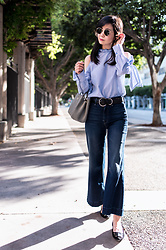 Helen @ mountainandcloud.com - Shein Blouse, Mother Jeans - Ruffles and Bows