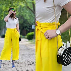 Ana Drosu - Zara Bag, Stradivarius Pant - Tropical look