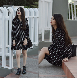 Xaydy Gambino - Zara Polka Dots Dress, Zara Black Bag, More On - Polka dots club