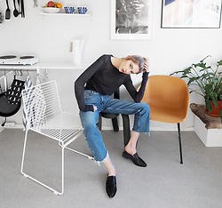 "Ebba Zingmark - Isabel Marant Top, &Otherstories Jeans, Hay Chair, Ebba Zingmark Blog, Windsor Smith Shoes - ""THINKING BOUT THE FUTURE"""