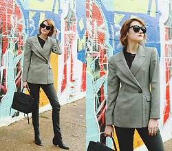 E Maille - Genuine People Sunglasses, Drifter Top, Vintage Blazer, Dl1961 Denim, Celine Bag, Topshop Boots - Right proper