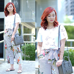 Jean Yu - Celine Bag, Zara Pants, Zara Top - Tropical