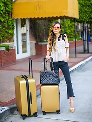 Sasa Zoe - Top, Jeans, Sunglasses, Sandals - JETSET BABE