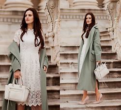 Viktoriya Sener - Chic Wish Dress, Amma Fashion Coat - OVERSIZE MINT COAT