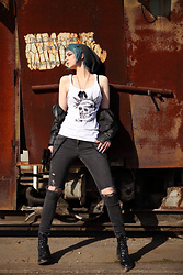 Lily - / Self Painted Top, H&M Ripped Jeans - Lis Chloe Price inspired look