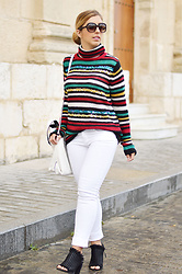 Mara M - Zaful Sweater, Sfera Jeans, Bershka Mules, Zara Bag - Sequins & stripes