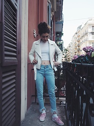 Alexandra Sakowska - Pull & Bear Jacket, Bershka Pants, Adidas Shoes - Wh