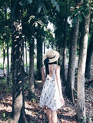 Cassey Cakes - H&M Straw Hat - Into the Woods