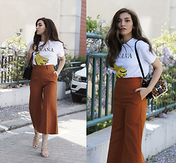 Melike Gül - Romwe T Shirt, Zaful Trousers, Rosegal Bag, Mango Sandals - This is not a Banana