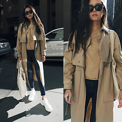 Aliya A - Somemoment Trench Coat - SOMEMOMENT Trench Coat