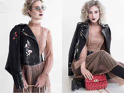 Margarita Maslova - Valentino Bag, Russby Black Leather Jacket - RitalifeStyle