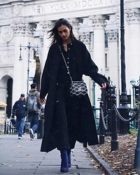 Gizele Oliveira - Louis Vuitton Bag, Violent Rose Jumpsuit, Public Desire Boots - City Hall