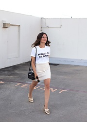 Jenelle Witty - Topshop Females Of The Future Tee, Gucci Marmont Pumps, The Fifth Label Mini, Zac Posen Bag Mini - FEMALES OF THE FUTURE