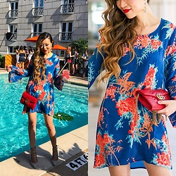 Sasa Zoe - Dress, Earrings, Heels, Bag - POOL PARTY