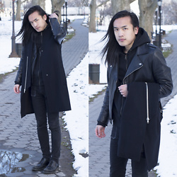 Xanthium James - Oak Perf Moto, Oak Long Vest, American Giant Hoodie, Cheap Monday New Black, Dr. Martens Albany - Hartzell