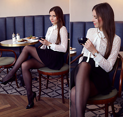Ariadna Majewska - White Lace Shirt - Retro