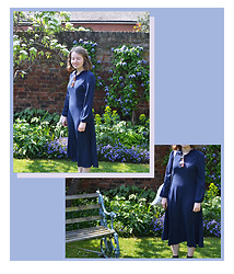 Jasmine - H&M Navy Frill Neck Dress, Topshop Sunglasses - Blooming in Blue
